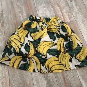 Banana print tropical skirt 🍌💛 size xxs
